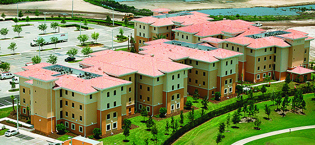 The Ucf Rosen College Of Hospitality Student Housing Facility Is Comprised 2 4 Story Buildings With A Combined Total Roximately 148 000 Sf Air